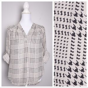 41 Hawthorn Stitch Fix Ackley Houndstooth Blouse